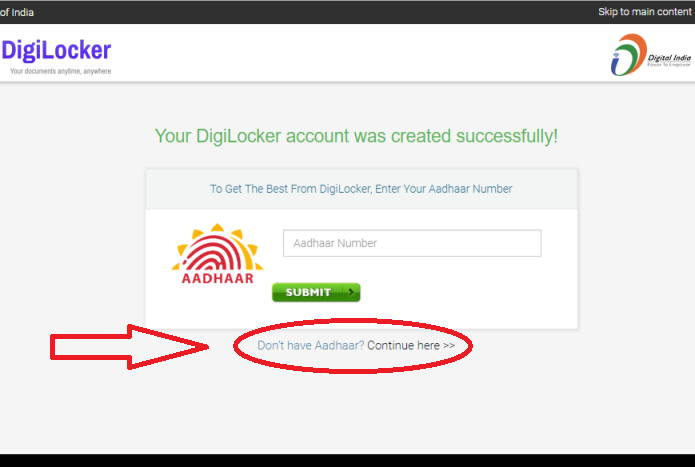 Digilocker signUp step3