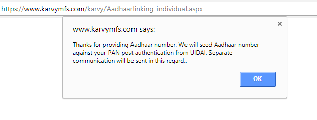 5 min guide to link Aadhaar number with mutual funds online