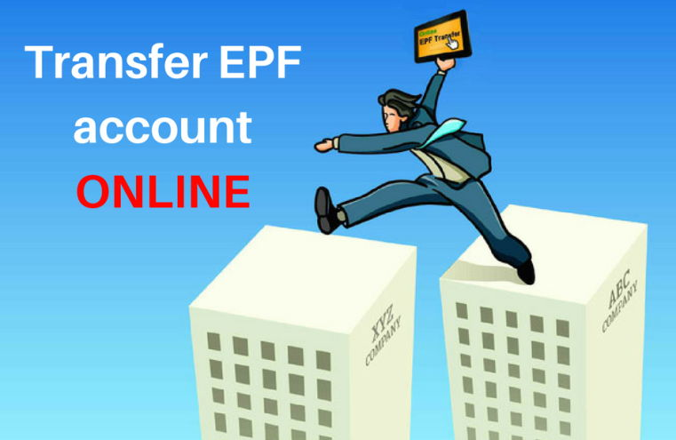 Transfer EPF account online