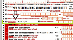 No more sending ITR-V by post after income tax filing – Verification with aadhar card introduced