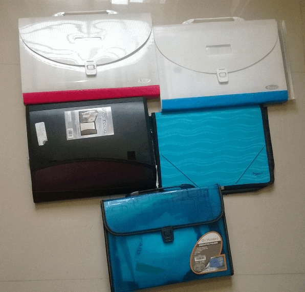 arranged documents in various folders