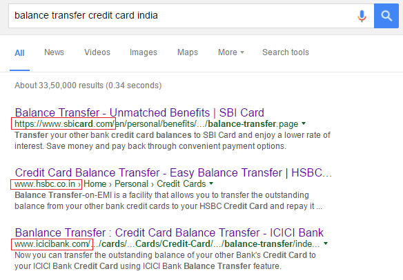 credit card balance transfer facility