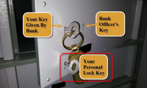 bank locker front with godrej lock