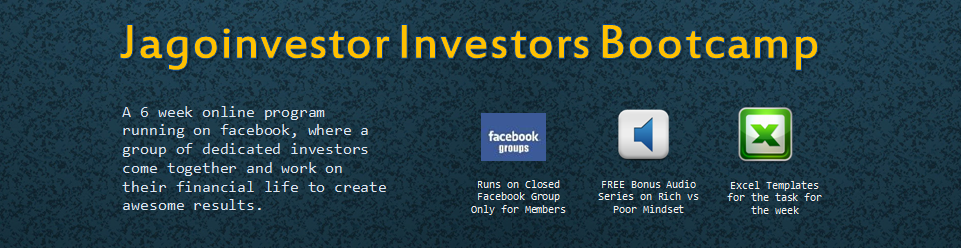 6 weeks investors bootcamp by Jagoinvestor
