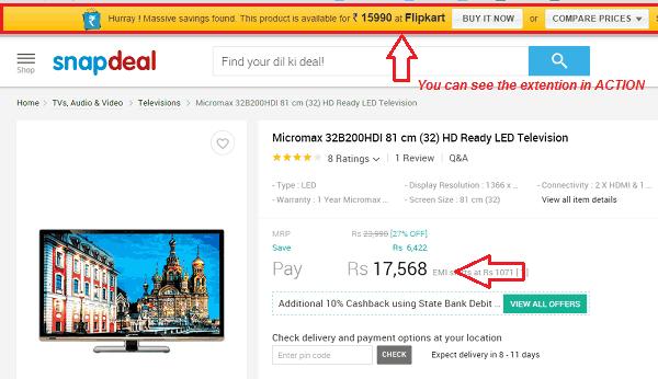 buyhatke extention online shopping