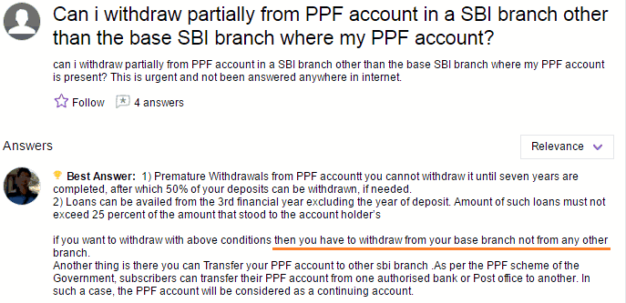 You cant withdraw PPF from other branch