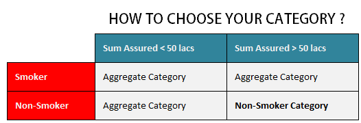 choose category in lic eterm online term plan