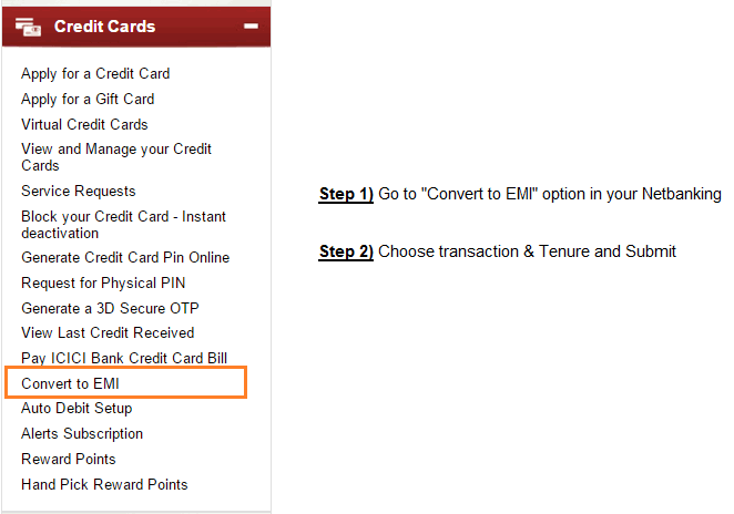 convert to EMI credit card