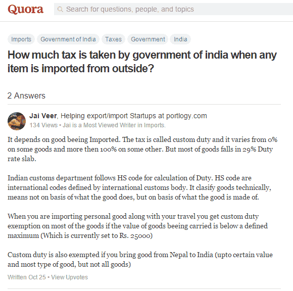 custom duty India rules