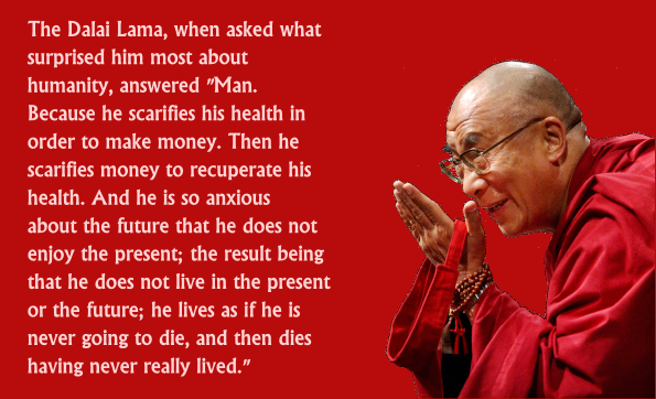 dalai lama money quote