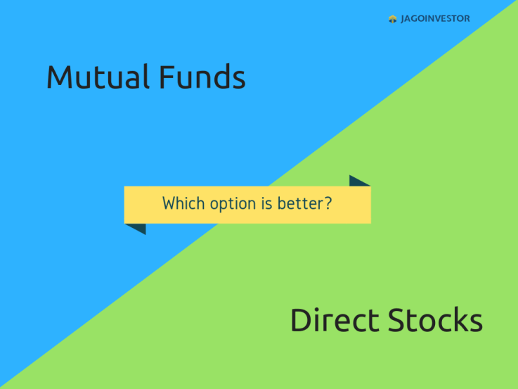 direct stock vs. mutual fund - comparison between both options to invest