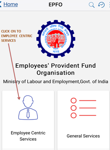 know efp balance by clicking on employee centric services in umag app