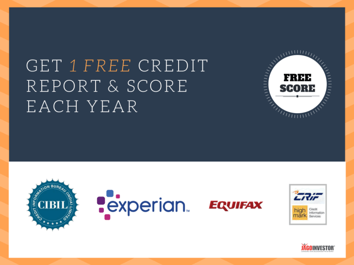 How to get free credit report and score in India each year