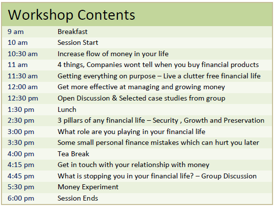 Jagoinvestor Workshop Details