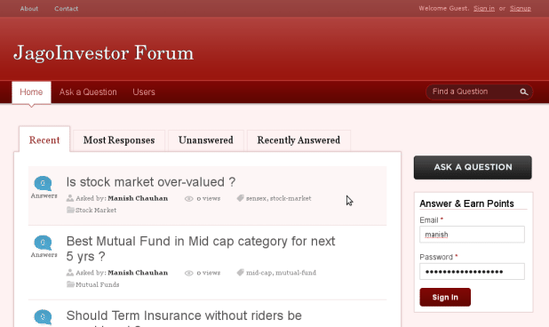 JagoInvestor Forum Features