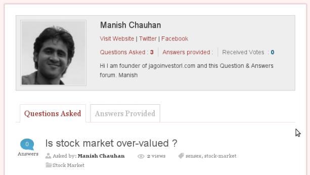 JagoInvestor Forum User Profile