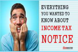 income tax notice and scrutiny