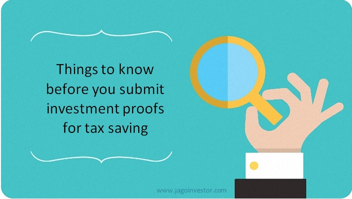 investment proof for tax saving