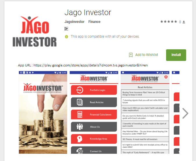 jagoinvestor mobile android app