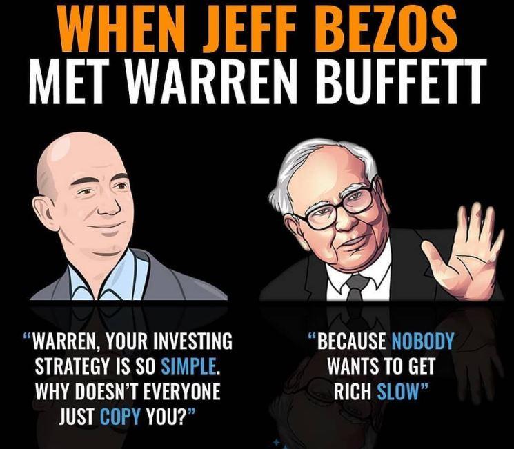 Jeff Bezos and Warren Buffett conversation