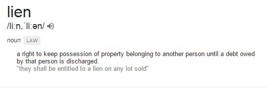 lien meaning home loan