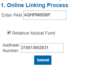 How to link aadhaar number with mutual funds folios in Karvy serviced mutual funds