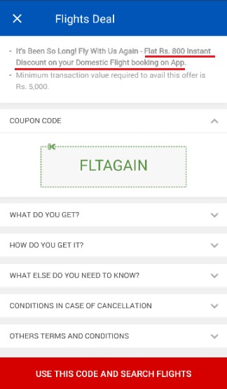 makemytrip mobile app offer