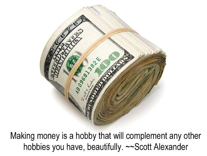 money and hobbies