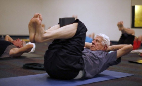 old parents exercising
