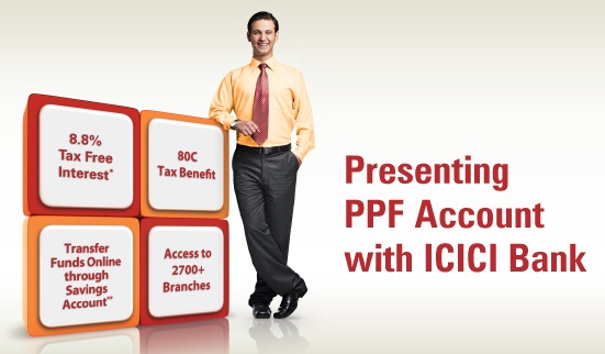 Open PPF account in ICICI Bank