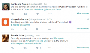 PPF interest rate reduced from 8.7% to 8.1% effective April