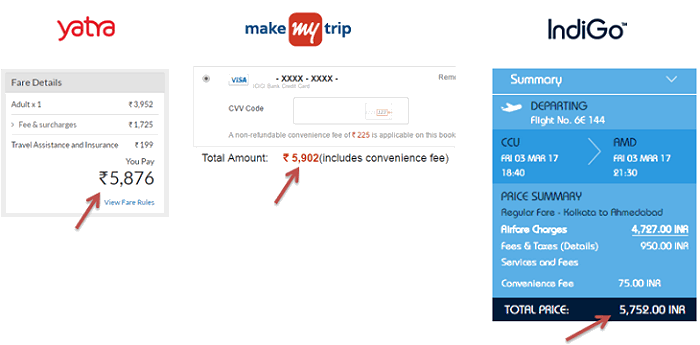 price comparison flights direct airlines website