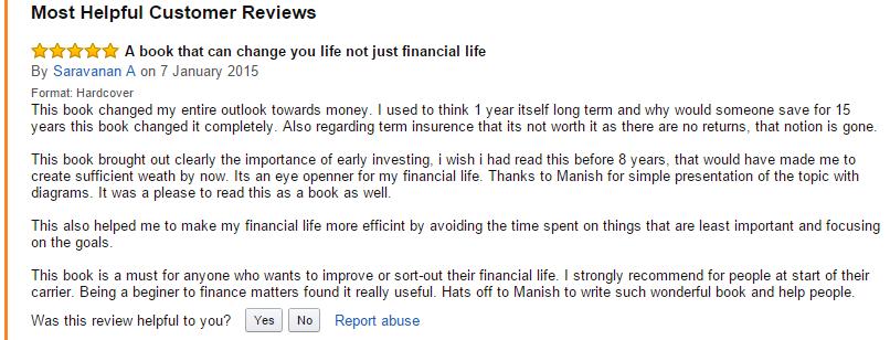 reader testimonial for book