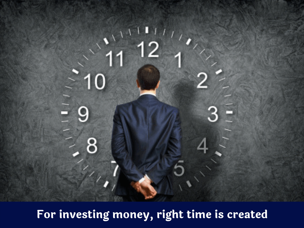 right time never comes when one can start investing but to invest right time is created