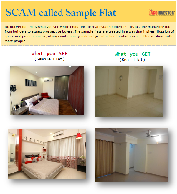 Difference between Sample flat and real flat