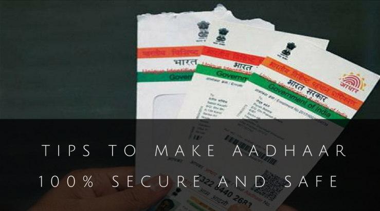 secure Aadhaar card