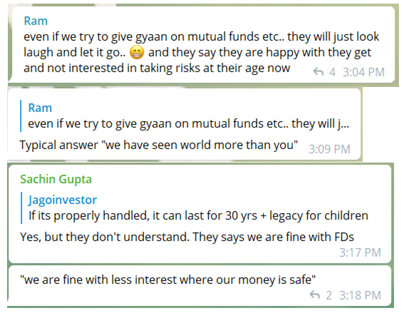 How senior citizens react when investing in mutual funds