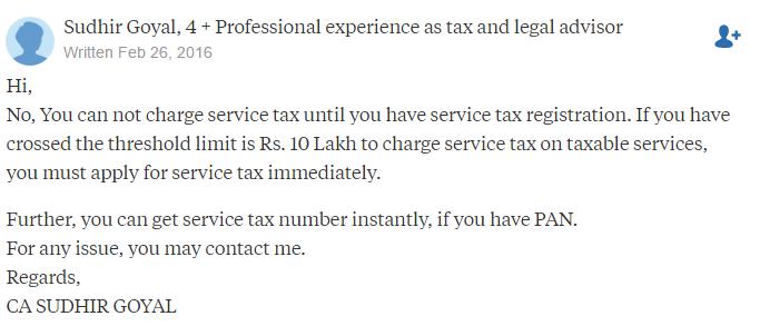 service tax rules