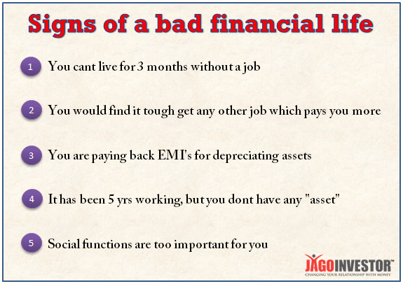 signs of bad financial life