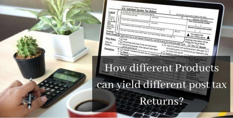 How different Products can yield different post tax Returns?