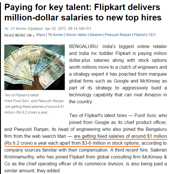 Top Salaries in India